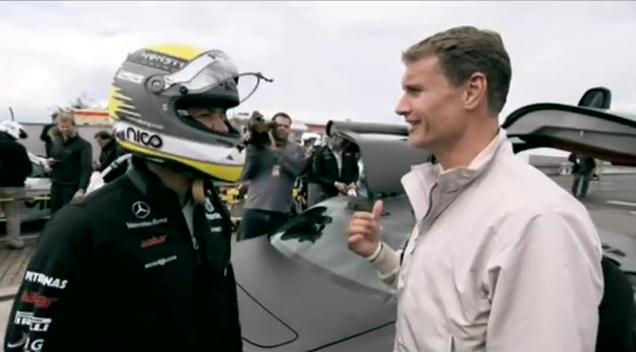 Nico Rosberg Terrifies David Coulthard On The 'Ring