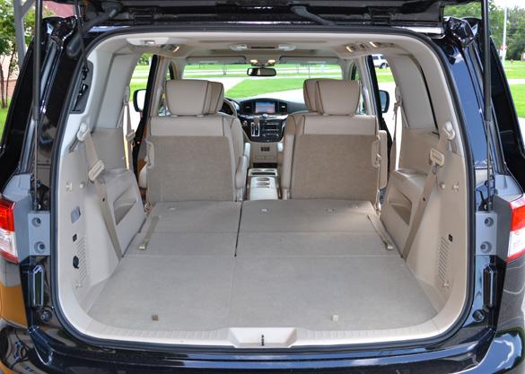 Nissan Quest Rear Cargo Seats Down