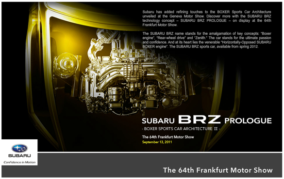 Subaru's FT-86 Equivalent To Be Named BRZ