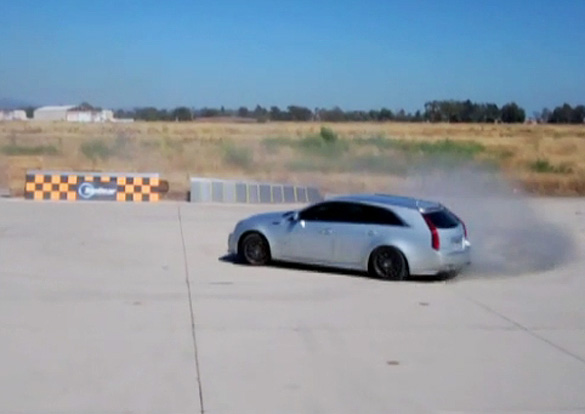 Top Gear USA's Tanner Foust Takes 650-HP Hennessey CTS-V Wagon For a Spin