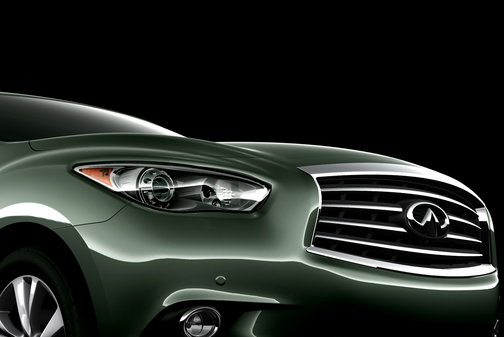 6th Infiniti JX Concept Teaser Image Reveals Grill Action