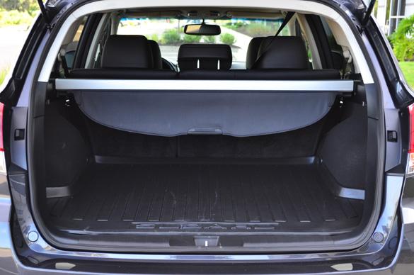 2011 Subaru Outback Rear Cargo Seats Up