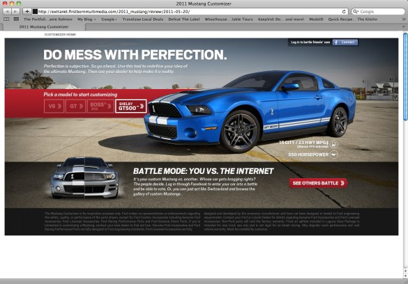 Ford Mustang Customizer Website The Ultimate Friday Time Suck