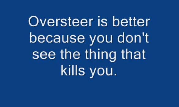 Understeer Versus Oversteer