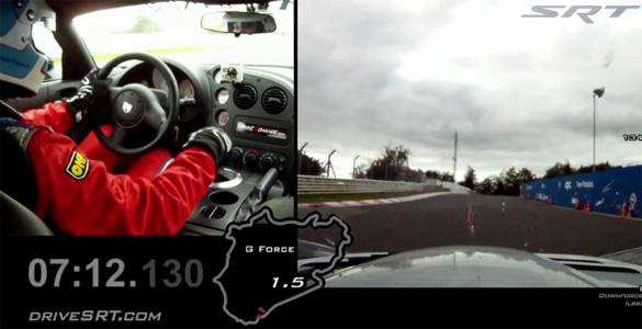 Record Setting Dodge Viper ACR Nurburgring Video