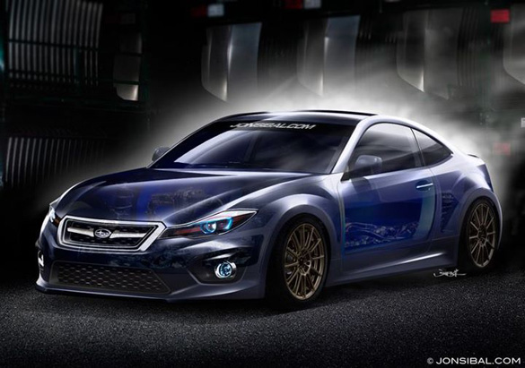 Jon Sibal Renders 2013 Subaru BRZ Concept Into Reality