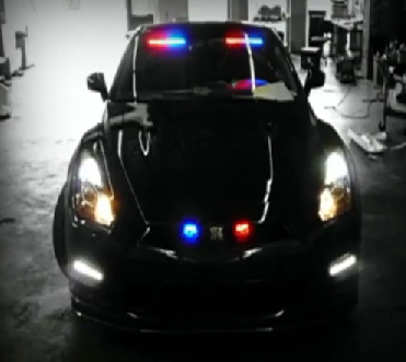 Video: Undercover 2012 Nissan GT-R Law Enforcement Vehicle Outfitted by EVI