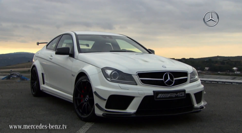 Mercedes c63 amg coupe black series in action video Mercedes benz c63 amg black series price