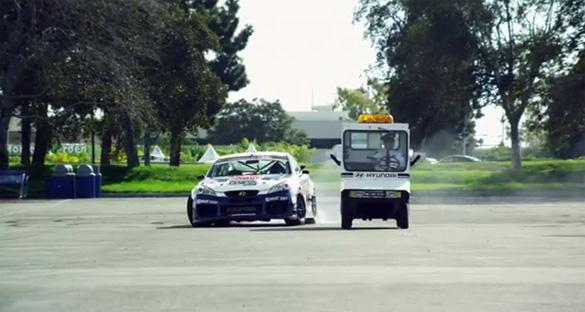 "Rhys Millen is ""The Driver"" in Hyundai Genesis Coupe Drift Car Heist Video"