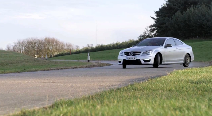 Track Testing the C63 AMG Coupe, On Temporary Spare Tires: Video
