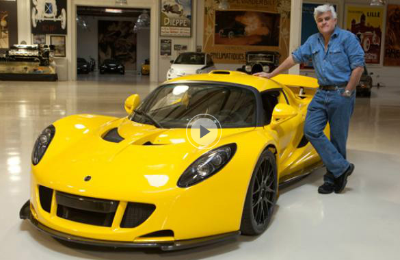 Video: Jay Leno Tackles the 1200 Horsepower Hennessey Venom GT
