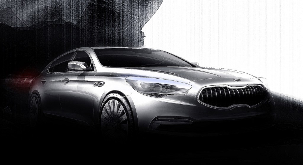 2013 Kia KH rear-wheel-drive Flagship Sedan Teased