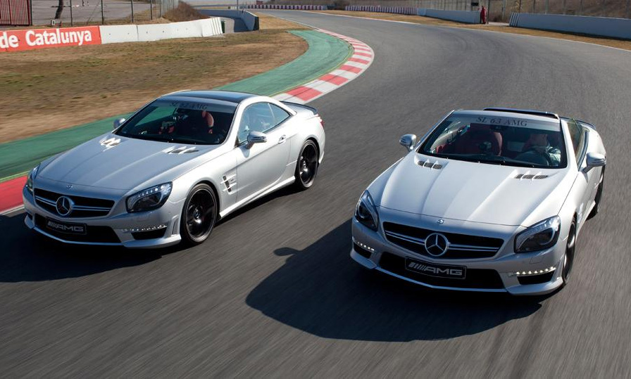 2013 Mercedes-Benz SL63 AMG Makes Official Debut w/ Petronas F1 Race Car