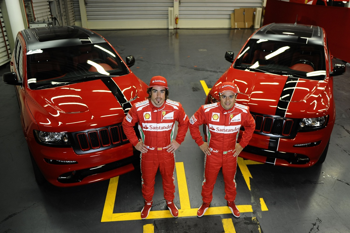 Ferrari F1 Stars Alonso And Massa Drive Jeeps?