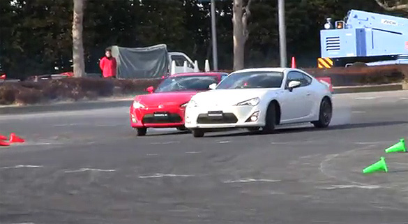 Video: Side-By-Side Toyota 86 Epic Drift Battle Action
