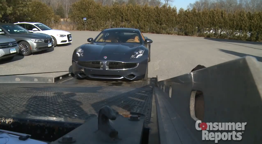 Consumer Reports' Fisker Karma Dies On Check-In: Video