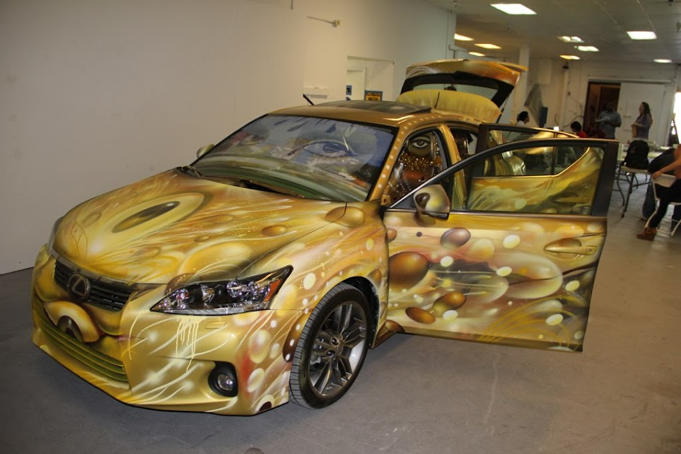 Artist Represents Lexus' Moving Expressions CT200h at Self Help Graphics & Art Feria
