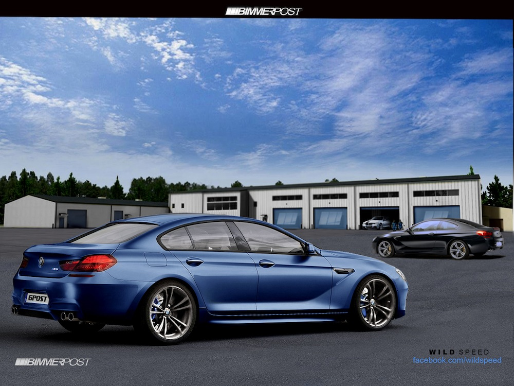 2013 bmw m6 gran coupe preview images rendered into reality. Black Bedroom Furniture Sets. Home Design Ideas
