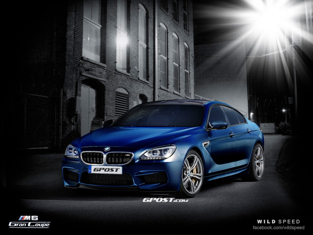 2013 BMW M6 Gran Coupe Preview Images Rendered Into Reality