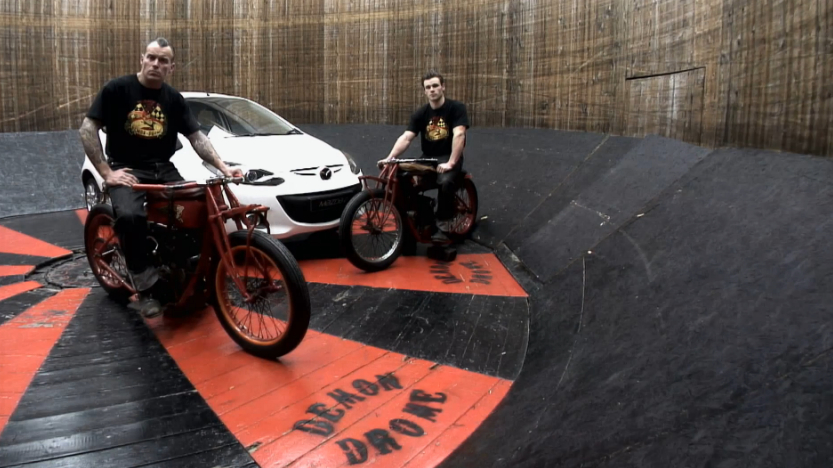 The Mazda2 Versus The Wall Of Death: Video