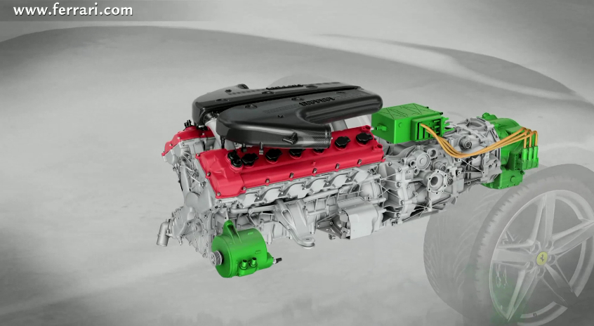 Ferrari Shows Off Its Second-Generation Hybrid Drivetrain: Video