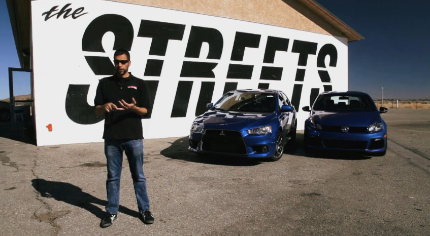 MotorTrend Runs The Mitsubishi Evo MR Against The Golf R: Video