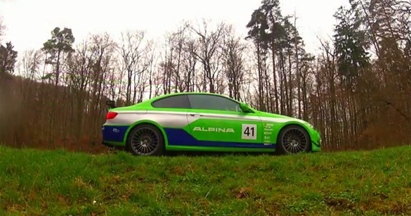 Video: Rare Bi-Turbo Alpina B3 GT3 based on BMW 335i Pushed to the Max