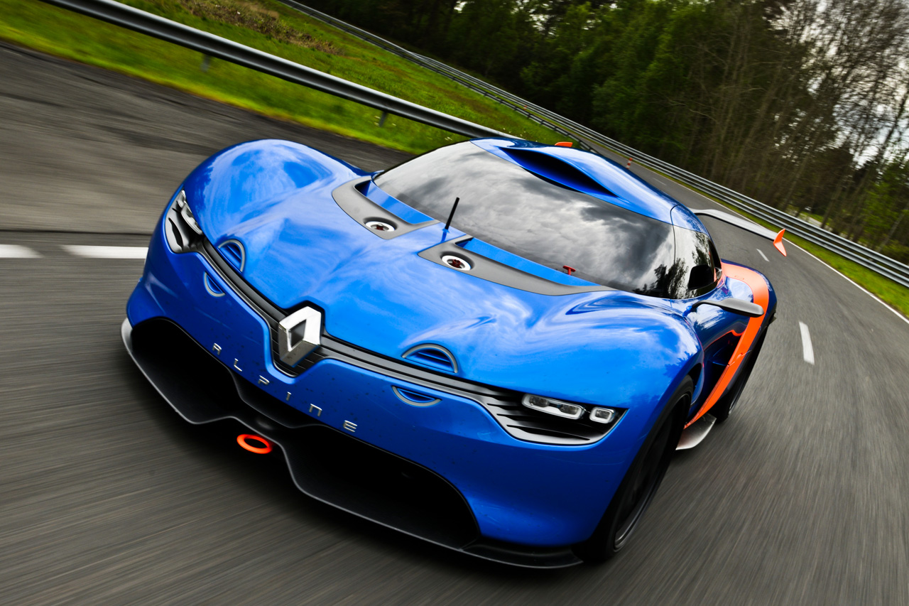video renault alpine a110 50 concept breaks cover. Black Bedroom Furniture Sets. Home Design Ideas