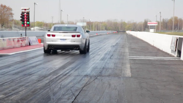 Stock 2012 Chevrolet Camaro ZL1 Burns Up quarter mile in 11.93 seconds