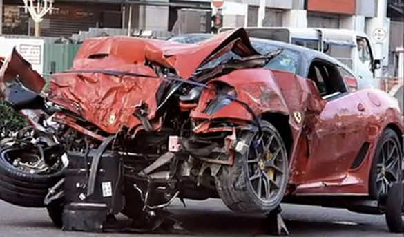 Video Footage of Horrific Ferrari 599 GTO Crash in Singapore Captured On Dash Cam
