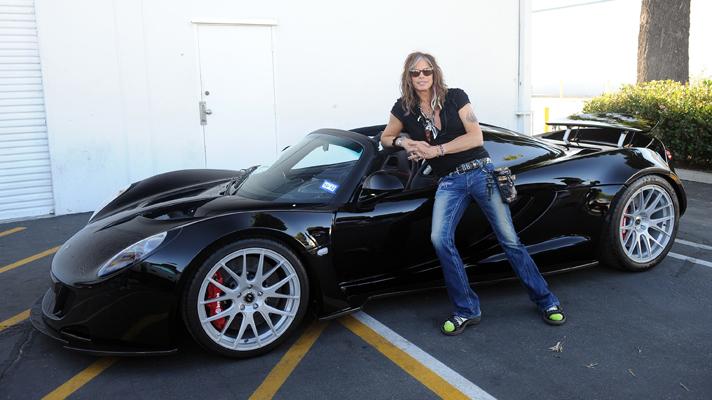 Sweet Emotion: Steven Tyler Takes Delivery of first 1244hp Hennessey Venom GT Spyder