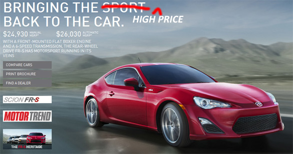 Dealerships Charging Hefty $7K Market Value Markup on new Scion FR-S