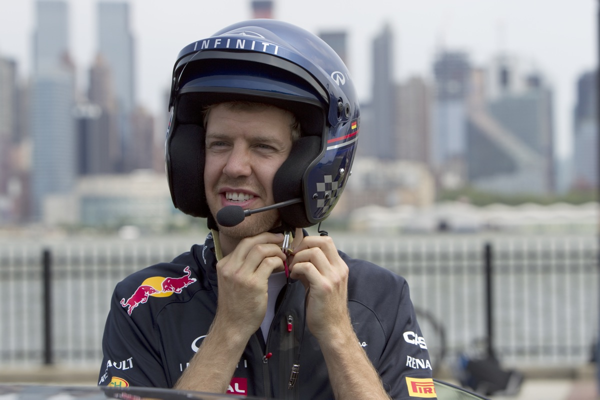 Sebastian Vettel Learns To Drive In New Jersey: Video