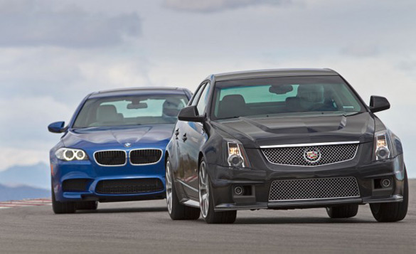 Road & Track Pits 2012 Cadillac CTS-V against 2013 BMW M5: Video