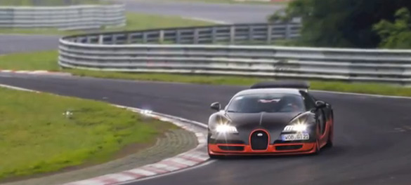 Bugatti Veyron Super Sport Testing on Nurburgring: Video