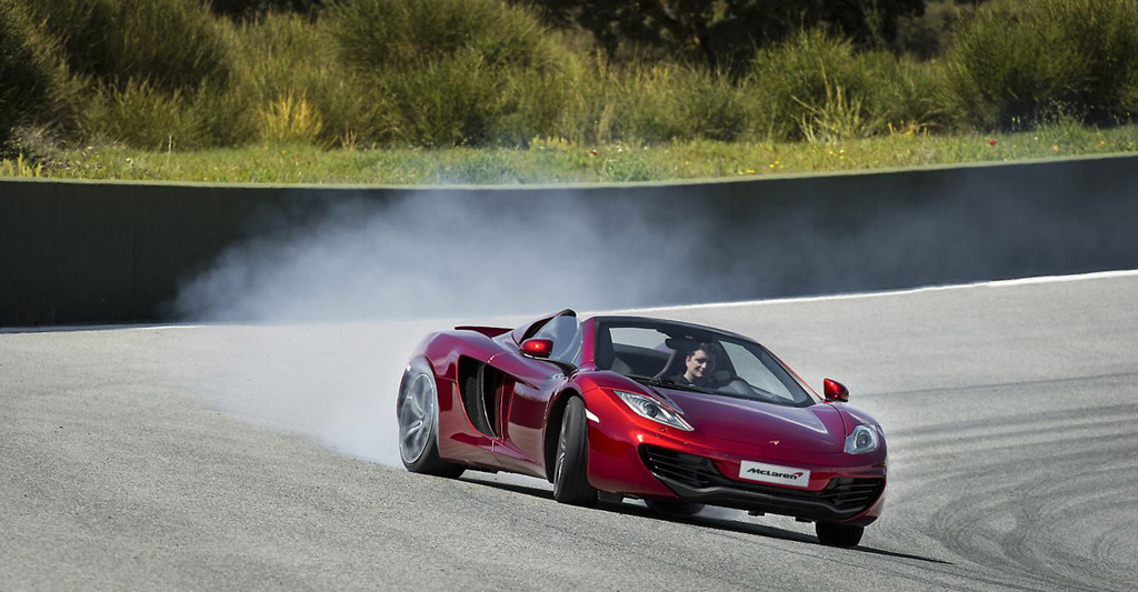 McLaren Unleashes MP4-12C Spider on the Track: Video