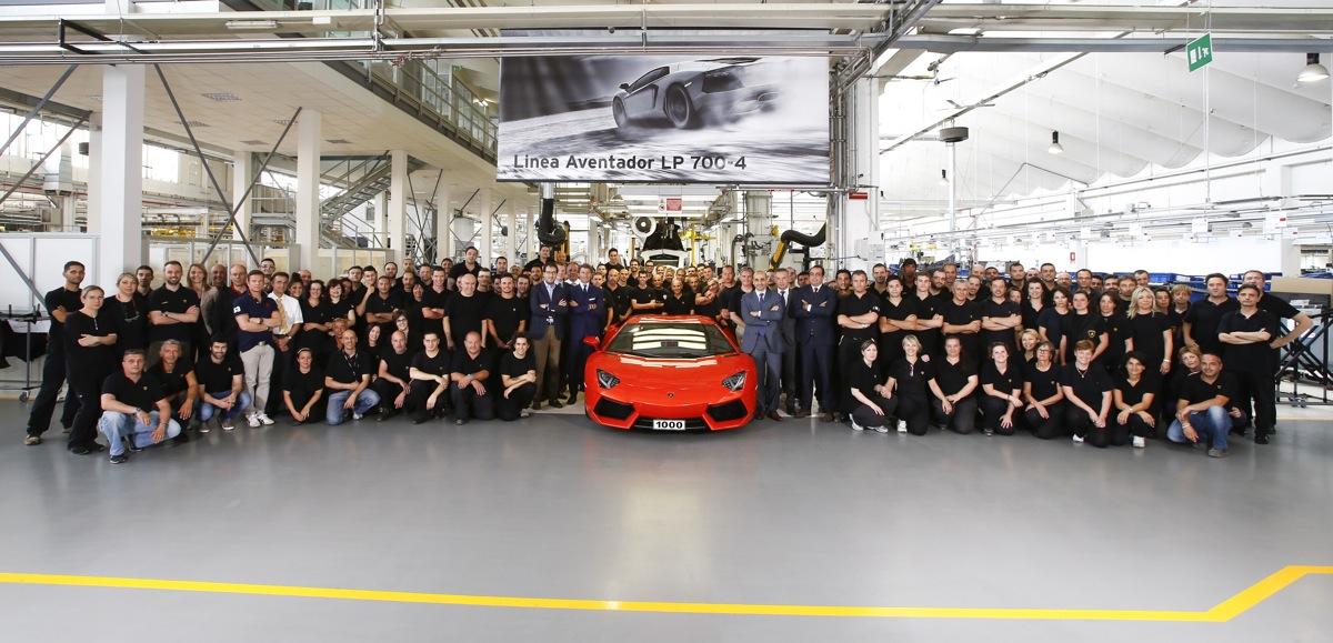Lamborghini Celebrates The 1,000th Aventador Built