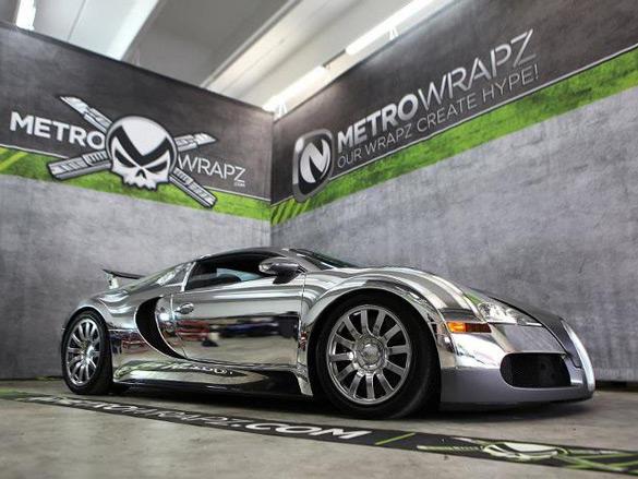Flo-Rida's Bugatti Veyron Gets Chrome Wrap Treatment