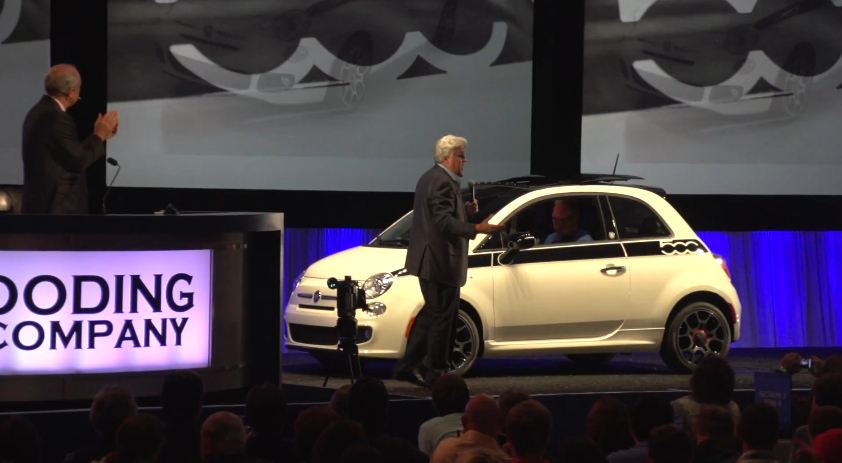 Jay Leno's Fiat 500 Raises $600,000 For Fisher House: Video