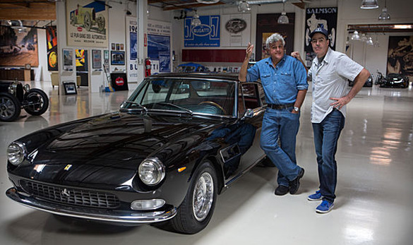 Jay Leno Welcomes Adam Carolla and His 1966 Ferrari 330 GT 2+2: Video