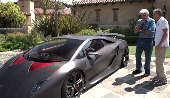 Jay Leno Gets Close-Up Look at Lamborghini Sesto Elemento & Urus: Video