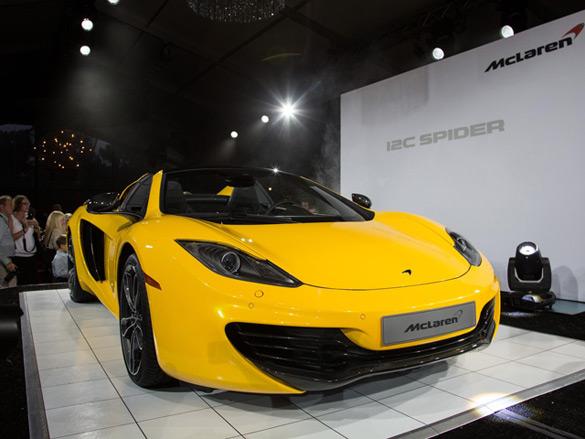 McLaren Shows Off 12C Spider at Pebble Beach: Video