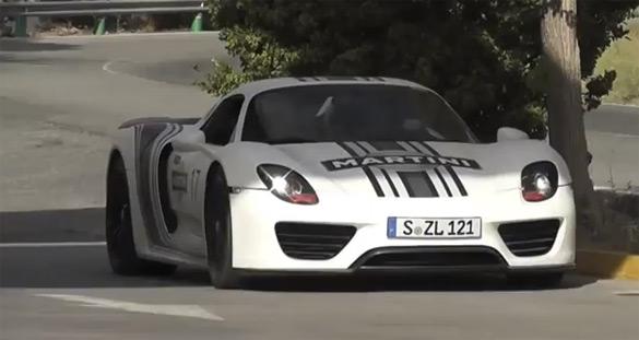 Porsche 918 Spyder In Action: Spy Video