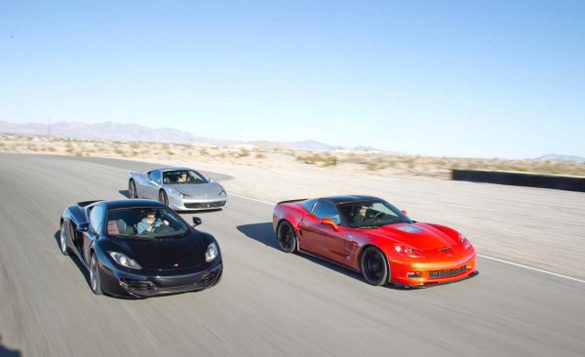 Corvette ZR1 Dukes It Out with Ferrari 458 Italia & McLaren MP4-12C: Video