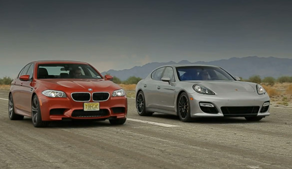 Motor Trend Runs New BMW M5 Against Porsche Panamera GTS: Video