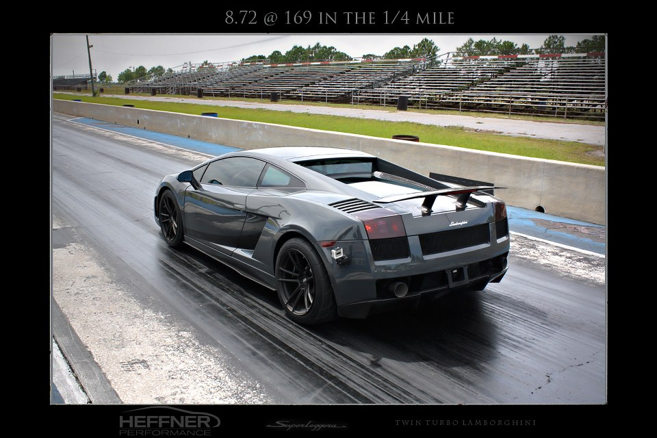 Heffner Performance Builds Twin Turbo Gallardo Breaking 8.72 Seconds in Quarter Mile