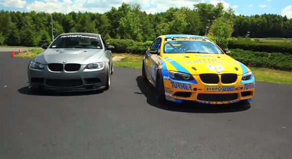 Matt Farah Pilots Turner Motorsport's BMW M3 Race Car & 535HP Frozen Gray M3: Video