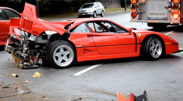 Ferrari F40 Wreck Carnage Captured on Video