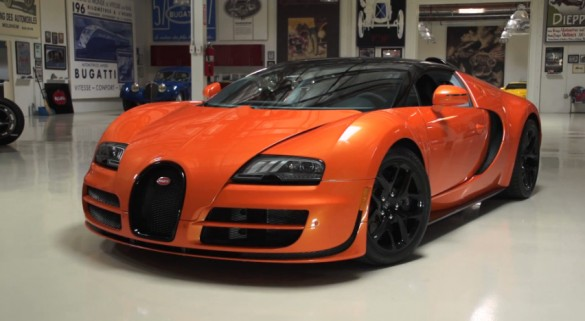 jay leno drives the bugatti veyron grand sport vitesse video. Black Bedroom Furniture Sets. Home Design Ideas