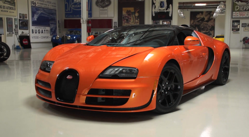 Jay Leno Drives The Bugatti Veyron Grand Sport Vitesse: Video